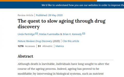 《Narure》:NMN/NADH等NAD+补充剂为顶层衰老干预措施