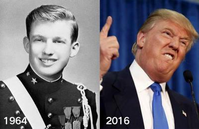 特朗普年轻对比图